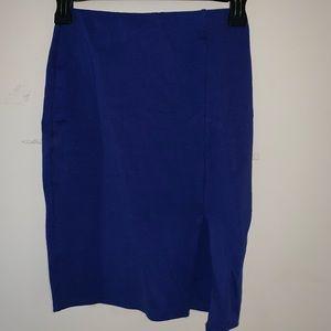 Charlotte Russe royal blue skirt
